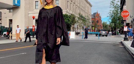 Bella Falconi fala sobre formatura em mestrado nos EUA: 'sonho realizado'