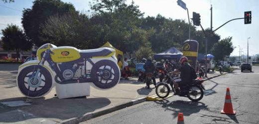 Secretaria realiza evento que alerta motociclistas sobre segurança no trânsito