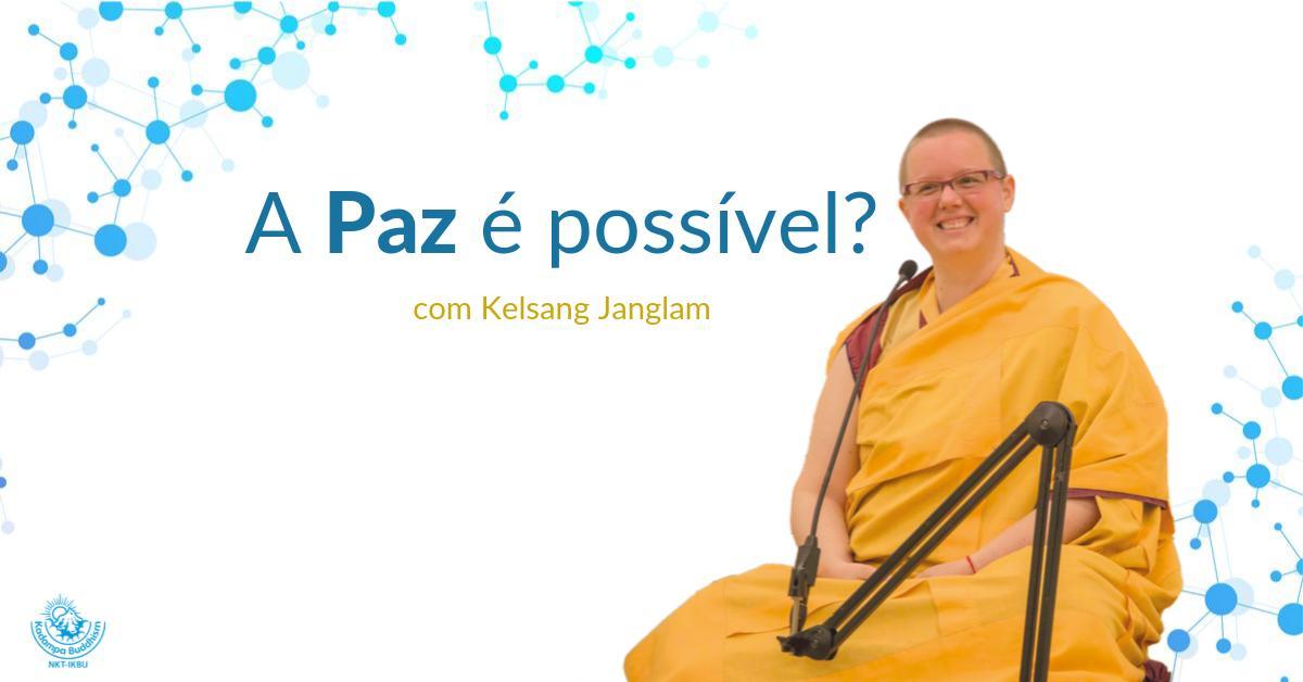 Palestra com monja budista discute a busca pela paz em tempos de incerteza e estresse