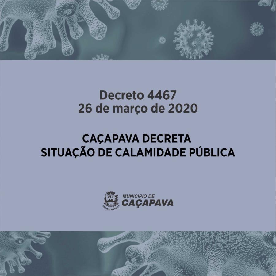 Decretada situação de calamidade pública em Caçapava